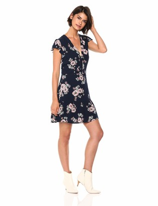 Cupcakes And Cashmere Women's Dalma Front Tie Fit and Flare Dress