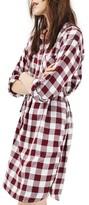 Topshop Women's Check Shirtdress