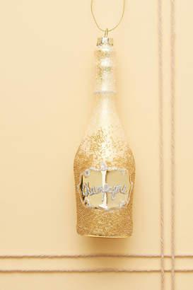 Anthropologie Champagne Bottle Ornament