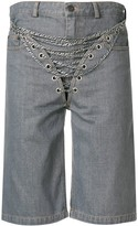 Y/Project chain embellished shorts