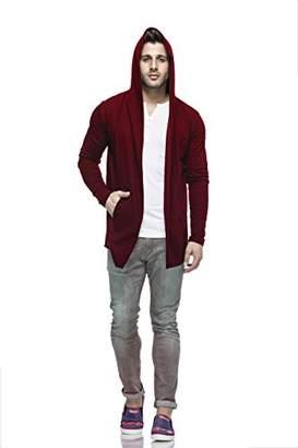 Easyvibe Men's Full Sleeve Hooded Neck Cotton Blend Cardigan