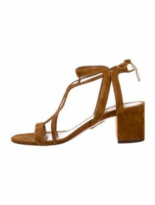 Aquazzura Suede Gladiator Sandals