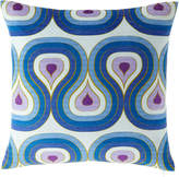 Jonathan Adler Milano Concentric Loops Pillow, Purple/Blue