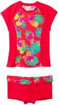Hobie Girls' Swimwear Tropical Locales S/S Rash Guard Set (7yrs14yrs) - 8140625