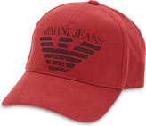 Armani Jeans Cotton Canvas Eagle Baseball Cap