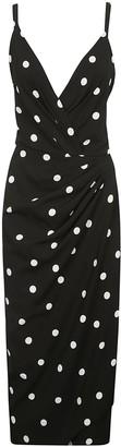 Dolce & Gabbana Polka-dot Wrap Dress