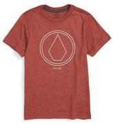 Volcom 'Pin Line Stone' Graphic Organic Cotton T-Shirt (Toddler Boys, Little Boys & Big Boys)