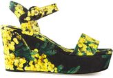 Dolce & Gabbana acacia print brocade wedge sandals