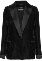 Tom Ford Satin-Trimmed Velvet Blazer