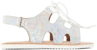 La Redoute Collections Metallic Leather Sandals