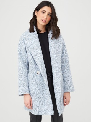 Very Double Breasted Relaxed Coat - Blue