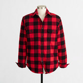 J.Crew Factory Sherpa-lined flannel jacket