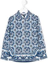 Dolce & Gabbana Majolica print shirt
