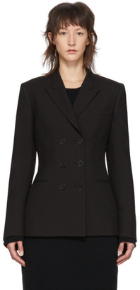 Stella McCartney Black Wool Double-Breasted Blazer