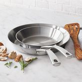 "Sur La Table Tri-Ply Stainless Steel Skillet Set, 8"" and 10"""