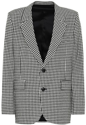 AMI Paris Gingham wool-blend blazer