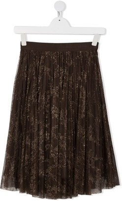Ermanno Scervino Metallic-Thread Tulle Skirt