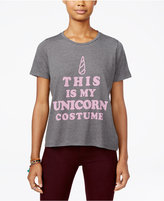 Mighty Fine Juniors' Unicorn Costume Graphic T-Shirt