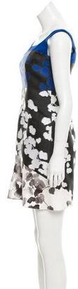 Narciso Rodriguez Jacquard Contrast Dress Blue