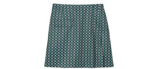Tory Burch Printed Tech Twill Side-Pleat Golf Skirt