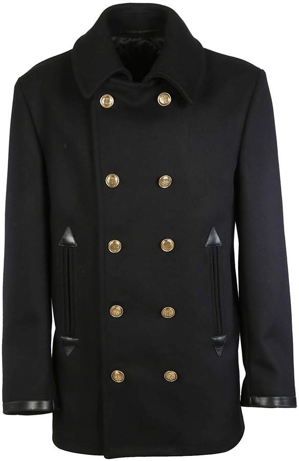 Givenchy 4g Engraved Button Peacoat