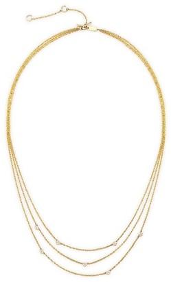 Celara 14K Yellow Gold & Diamond Layered Necklace