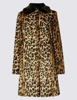 Marks and Spencer Faux Fur Leopard Print Coat