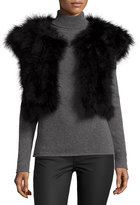 Jocelyn Marabou Feather Shrug, Black