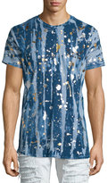 Robin's Jeans Gold Paint-Splatter Printed Short-Sleeve T-Shirt, Silver
