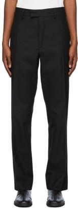 3MAN Black Wool Twill Trousers