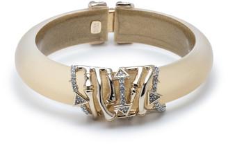 Alexis Bittar Orbiting Bamboo Crystal Encrusted Hinge Bracelet