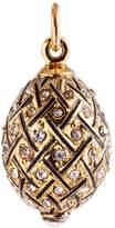 Alpha Elegance Faberge-Style Egg Pendant 24k Plated with Swarovski Crystal