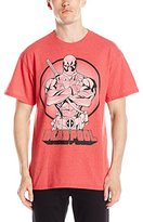 Marvel Men's Red Heather Deadpool Character T-Shirt