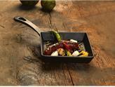 Lava ECO 8-1/2 in. x 13-1/2 in. Enameled Cast Iron Square Mini Grill Pan in Slate Black