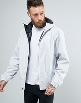 The North Face Quest Hooded Jacket In White Heather