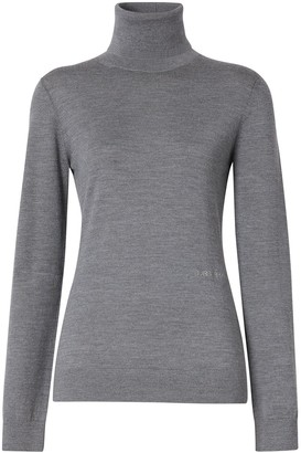 Burberry Two-Tone Roll Neck Jumper