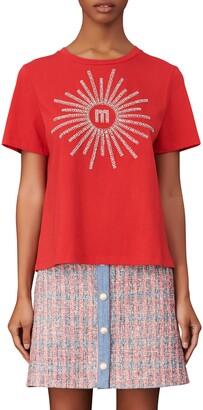 Maje Embellished T-Shirt