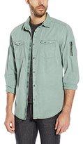 Calvin Klein Jeans Men's Garment Dyed Aviator Shirt