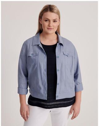 Regatta Linen Blend Jean Style Jacket-Blue Ash