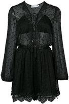 Zimmermann embroidered sheer playsuit - women - Silk - 0
