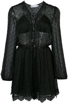 Zimmermann embroidered sheer playsuit