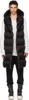 Rick Owens Black Down Liner Vest