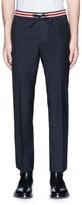 Valentino Pintucked wool-mohair jogging pants