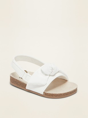 Old Navy Faux-Leather Knotted Bow-Tie Sandals for Baby