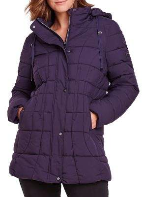 Olsen Quilted Puffer Car Coat