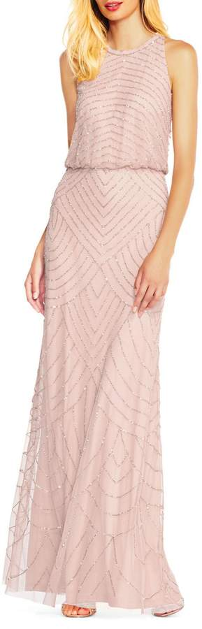Adrianna Papell Beaded Sleeveless Gown