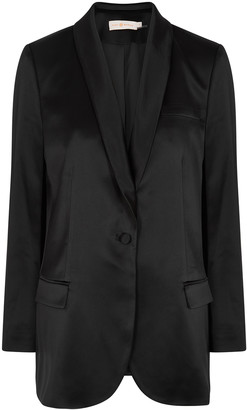 Tory Burch Black satin blazer