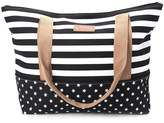 OHTOP Women Lady Stripes Messenger Beach Handbag Totes Canvas Shoulder Shopping Bag