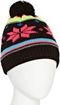 Isotoner Pom Snowflake Hat