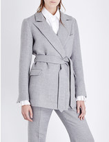 Co Belted wool and silk-blend jacket